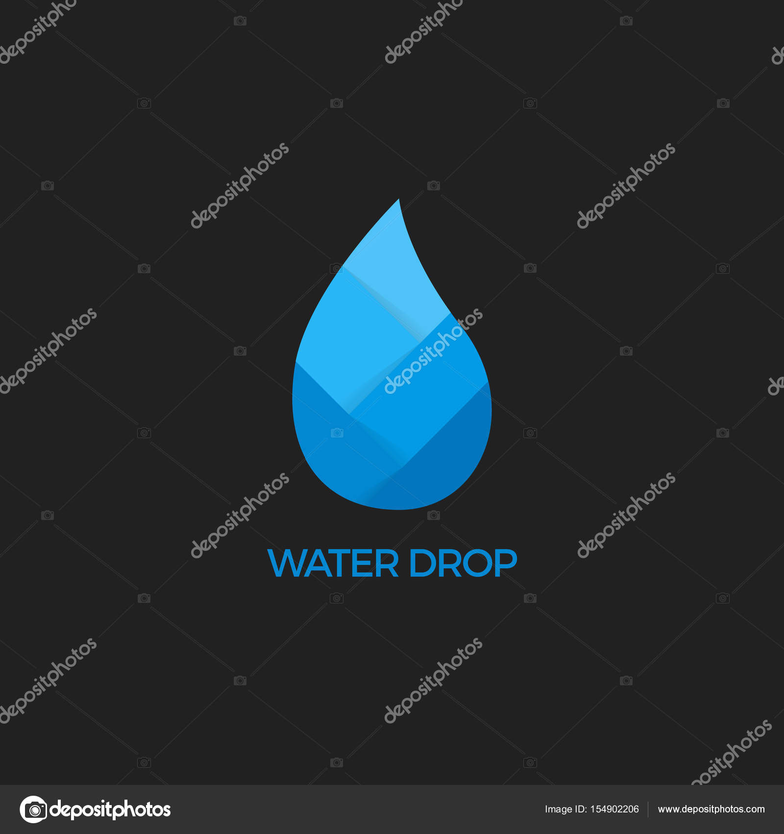Water drop abstract vector logo design template waterdrop blue water drop abstract vector logo design template waterdrop blue symbol paper water drop biocorpaavc Image collections
