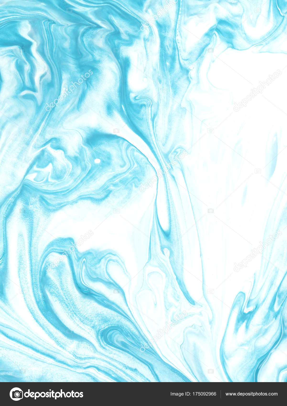 Blue Marble Abstract Hand Painted Background Stock Photo
