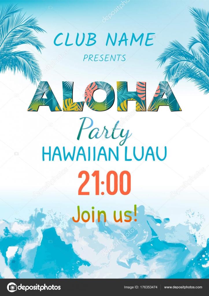 Luau Invitation Blank