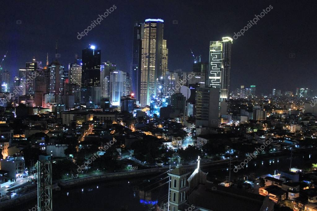 City of Manila by night