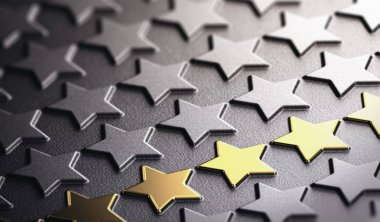 Golden Stars Background Symbol of Excellence