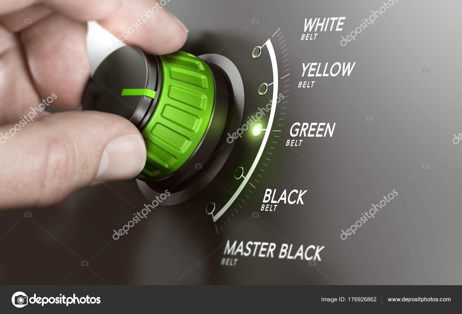 Lean Management Certification Green Belt Stock Photo Olivier26