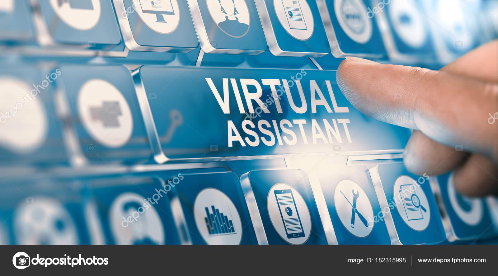 Virtueller Assistent; Persönlichen Pa Dienstleistungen — Stockfoto ...