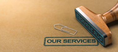 Our services, web header.