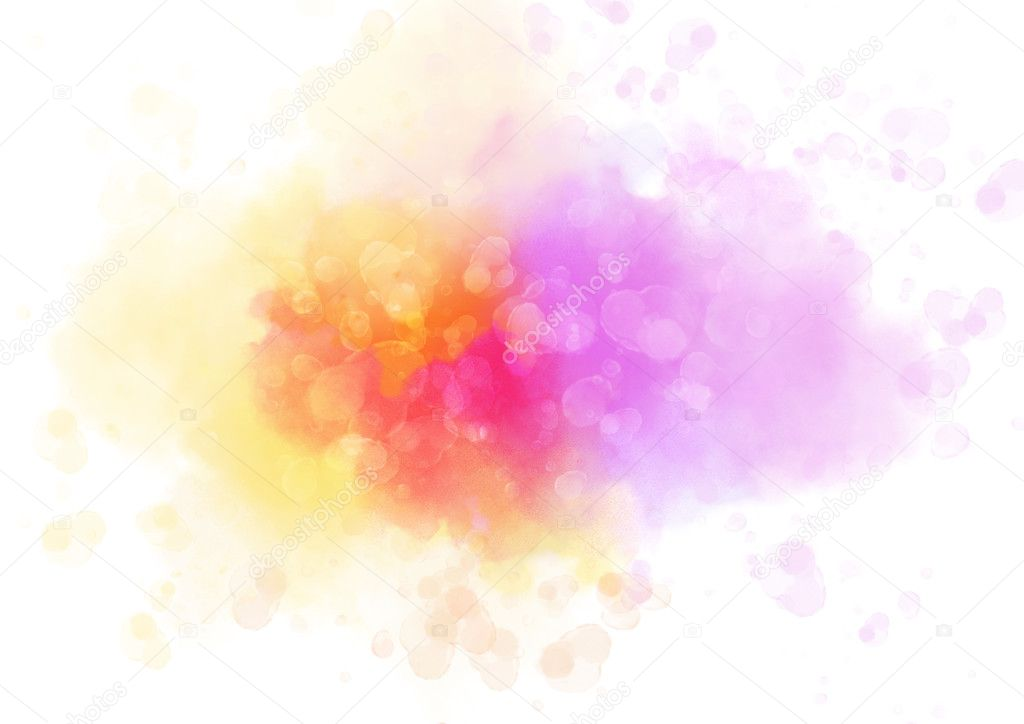 Colorful Watercolor Splash Abstract Background For