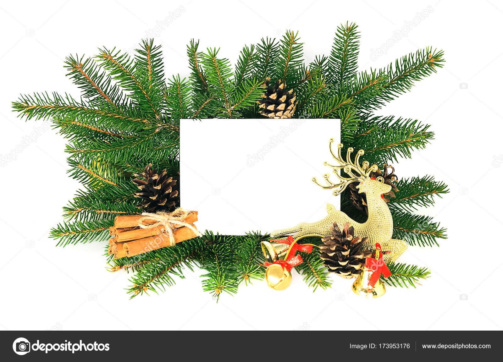 Tarjeta De La Invitación De Navidad Para El Saludo De