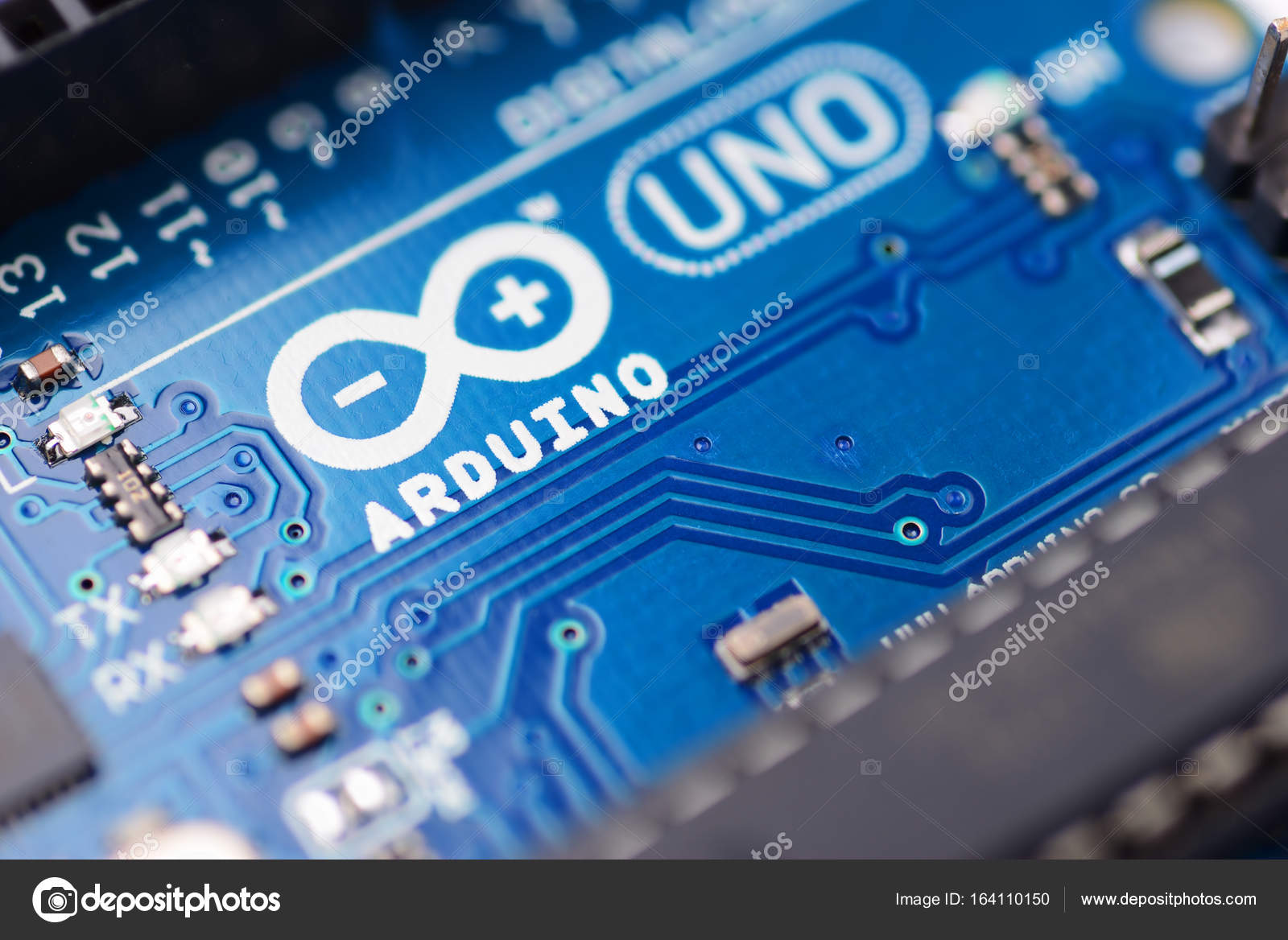 Arduino Uno Microcontroller Stock Editorial Photo Ha4ipiri Arduinocircuitboardjpg Brest Belarus August 22 2017 Pcb Board For Programming Education Development Logo Macro Shot By