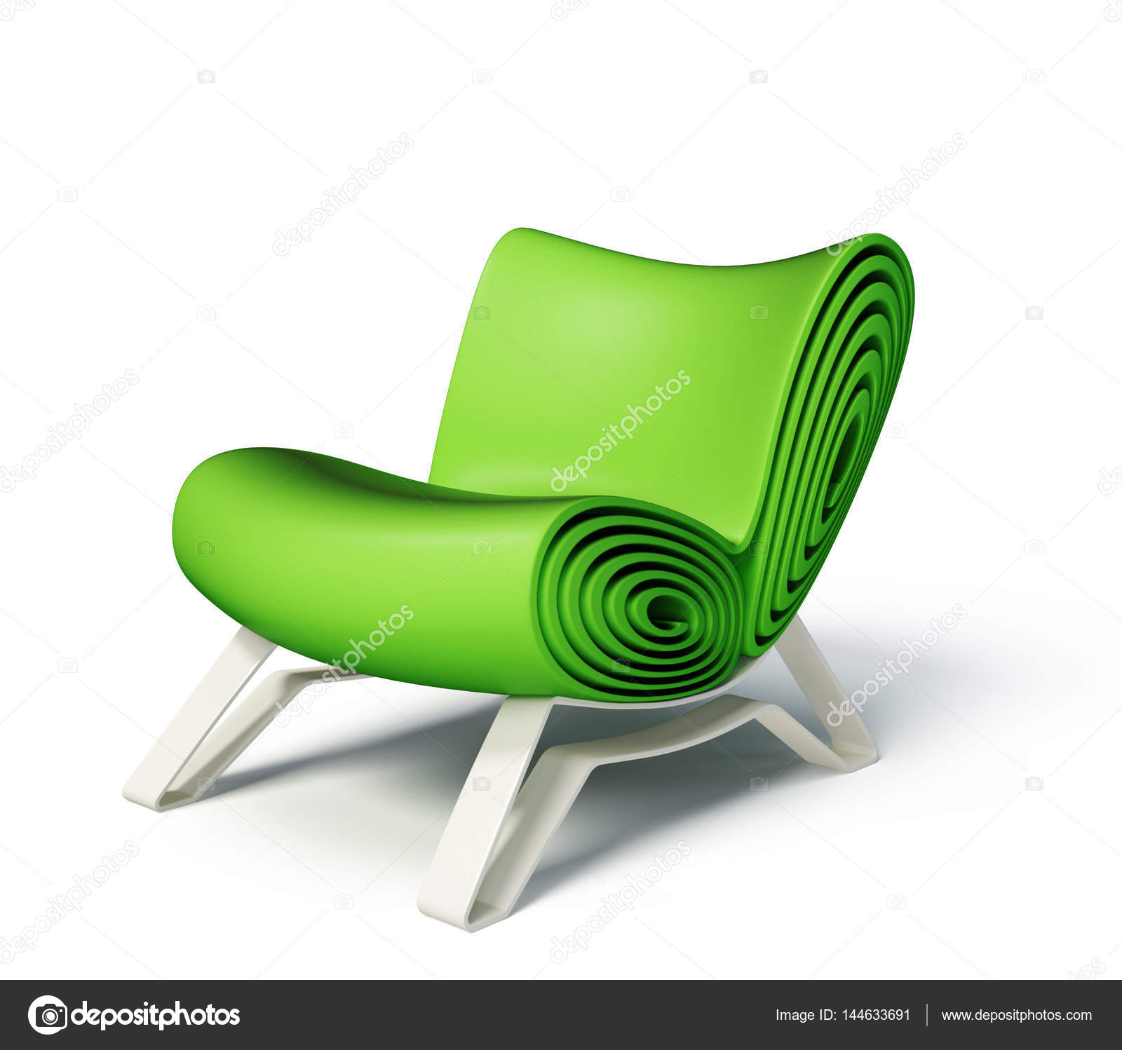 Grüne Moderne Sessel Stockfoto Alexroz 144633691
