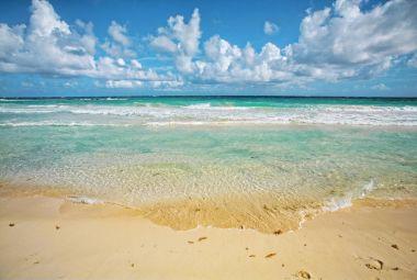Beautiful beach in Caribbean sea