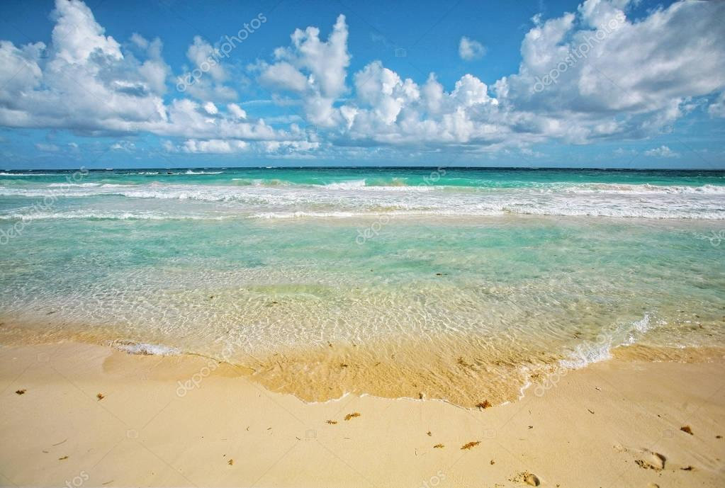 Beautiful beach in Caribbean sea