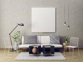 Photo modern living room interior