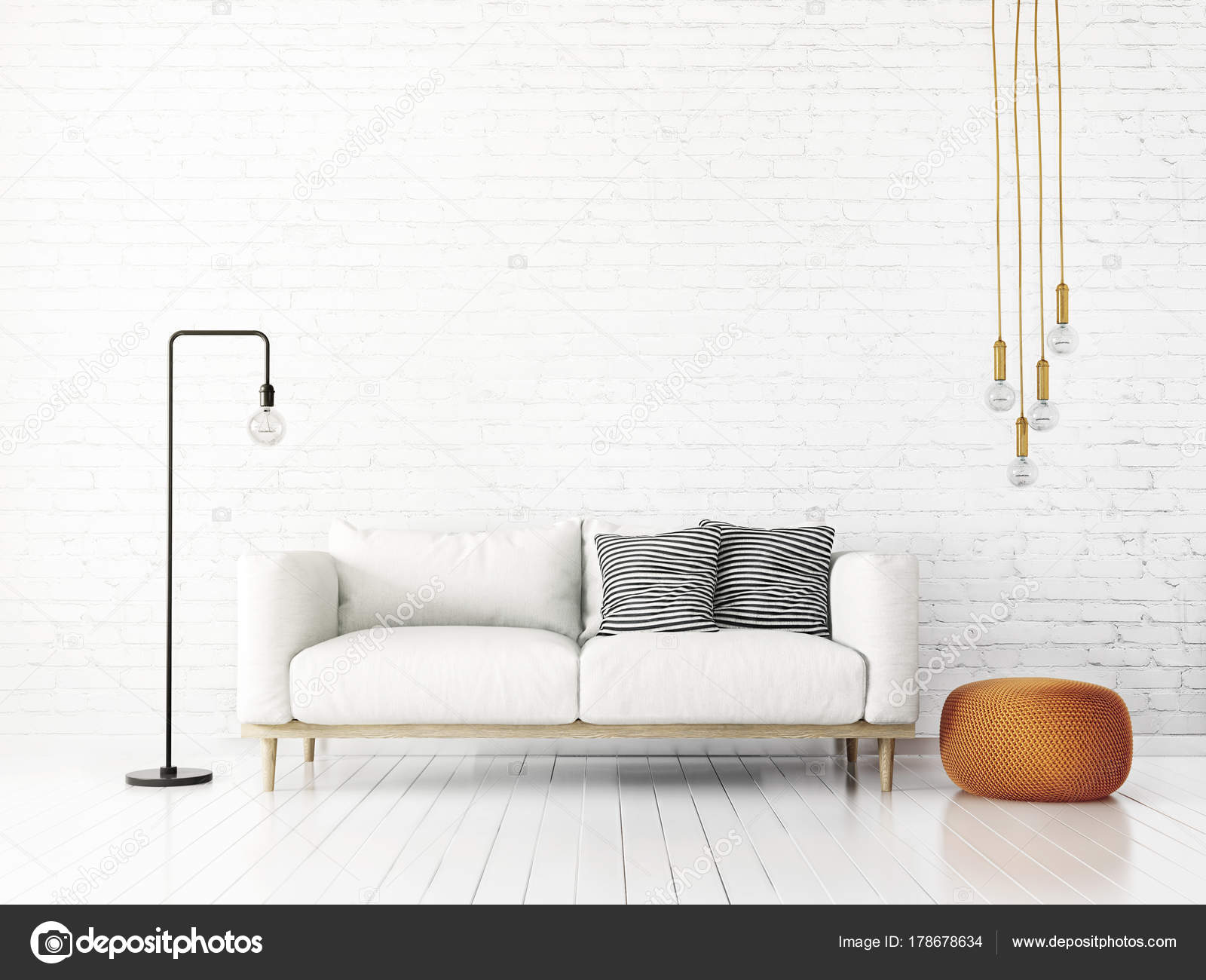 Modern Living Room Sofa Lamp Scandinavian Interior Design Furniture ...