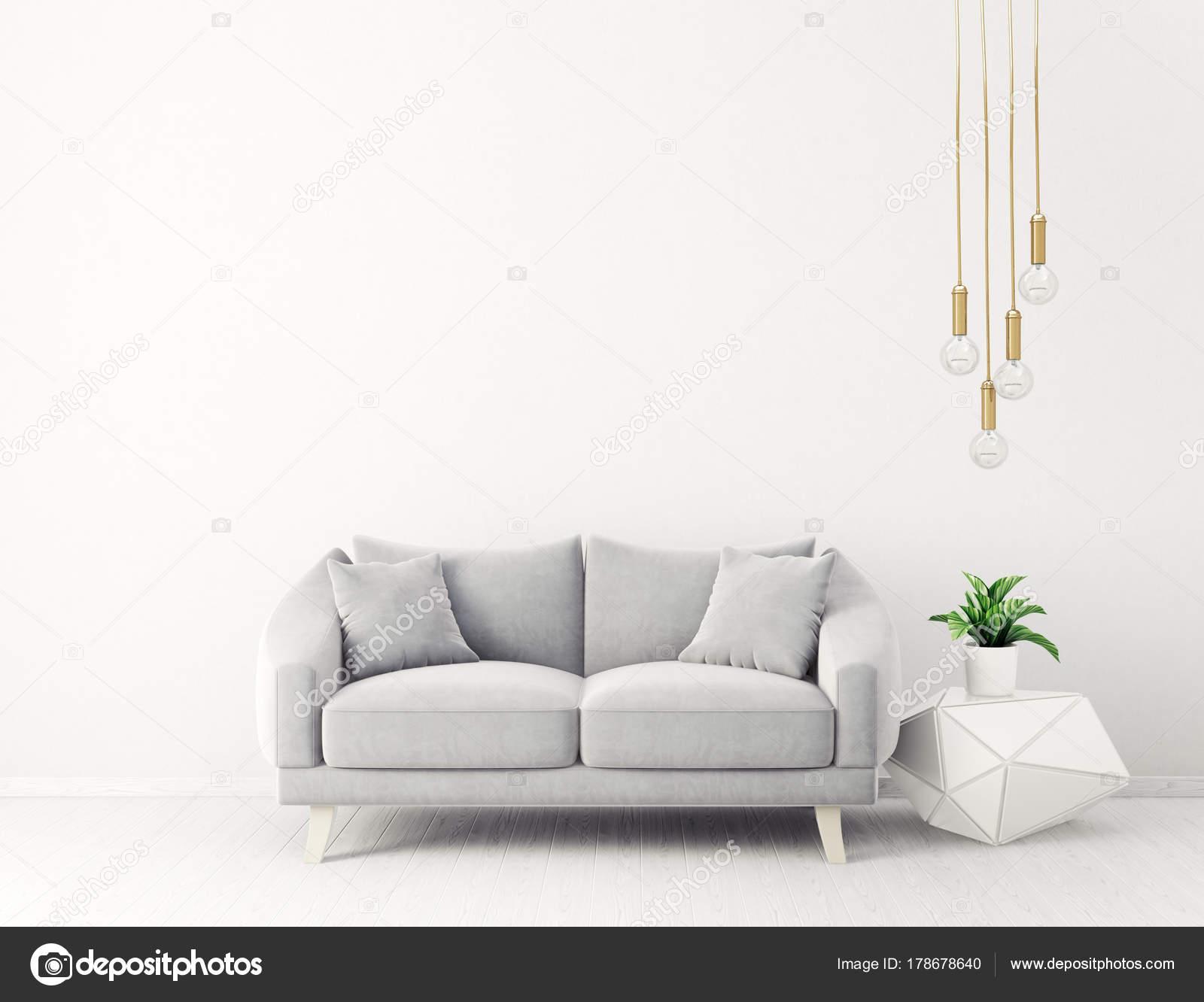Lampen Scandinavisch Interieur : Moderne woonkamer met sofa lampen scandinavisch interieur design
