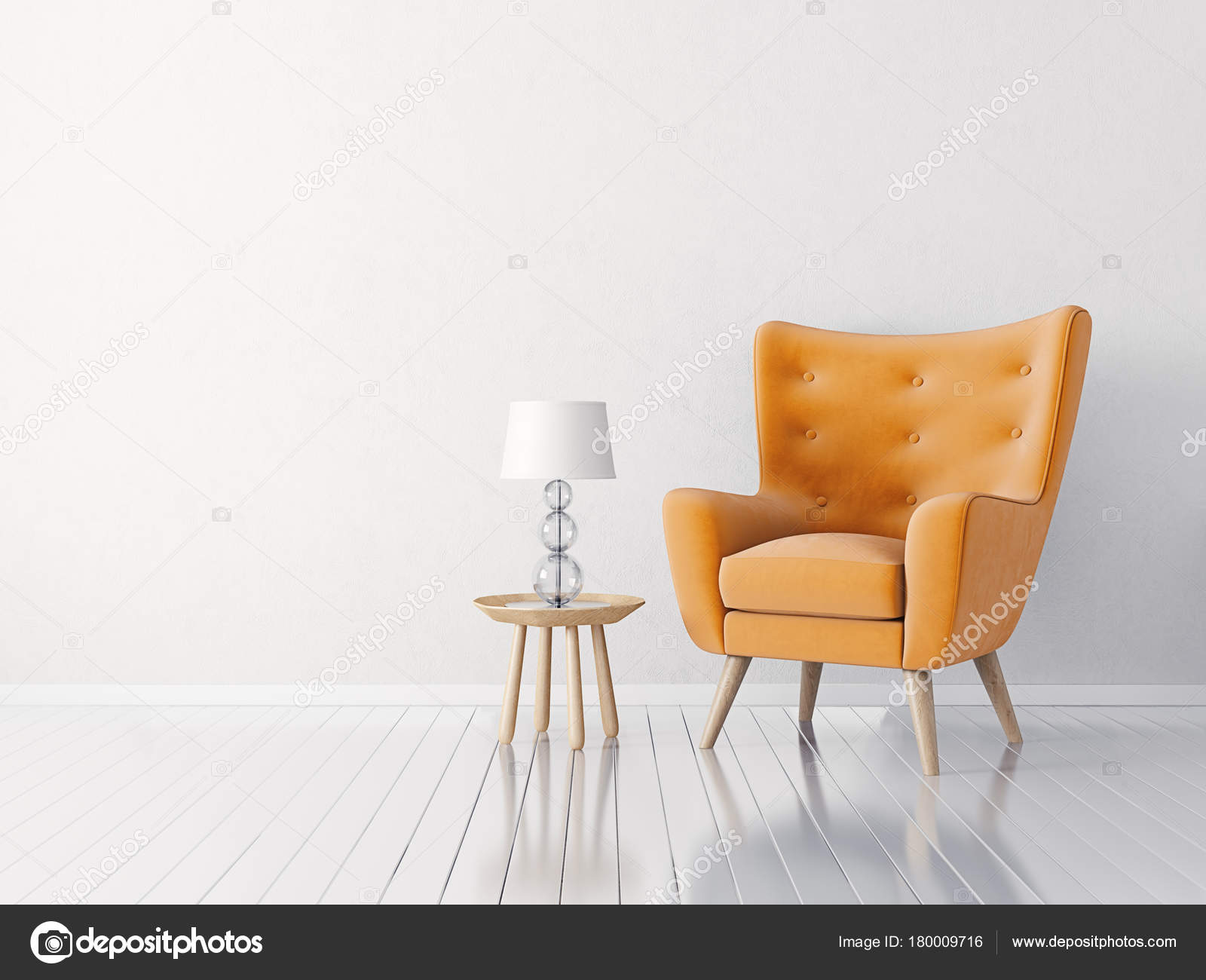 Modernes Wohnzimmer Mit Sessel Skandinavisches Interior Design U2014 Stockfoto