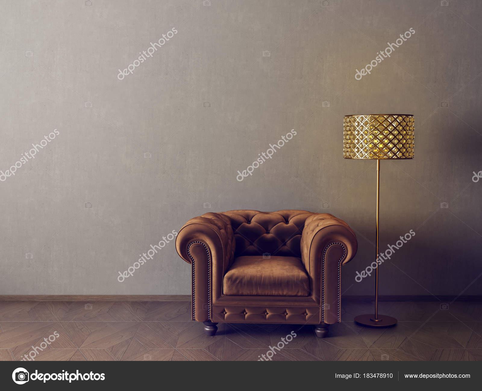 Moderne minimalistische woonkamer met fauteuil scandinavisch