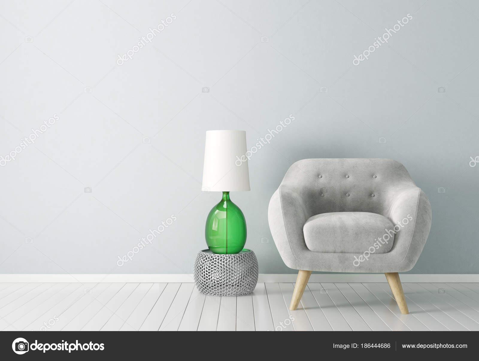 Scandinavisch Design Meubelen : Moderne woonkamer met leunstoel lamp scandinavisch interieur design