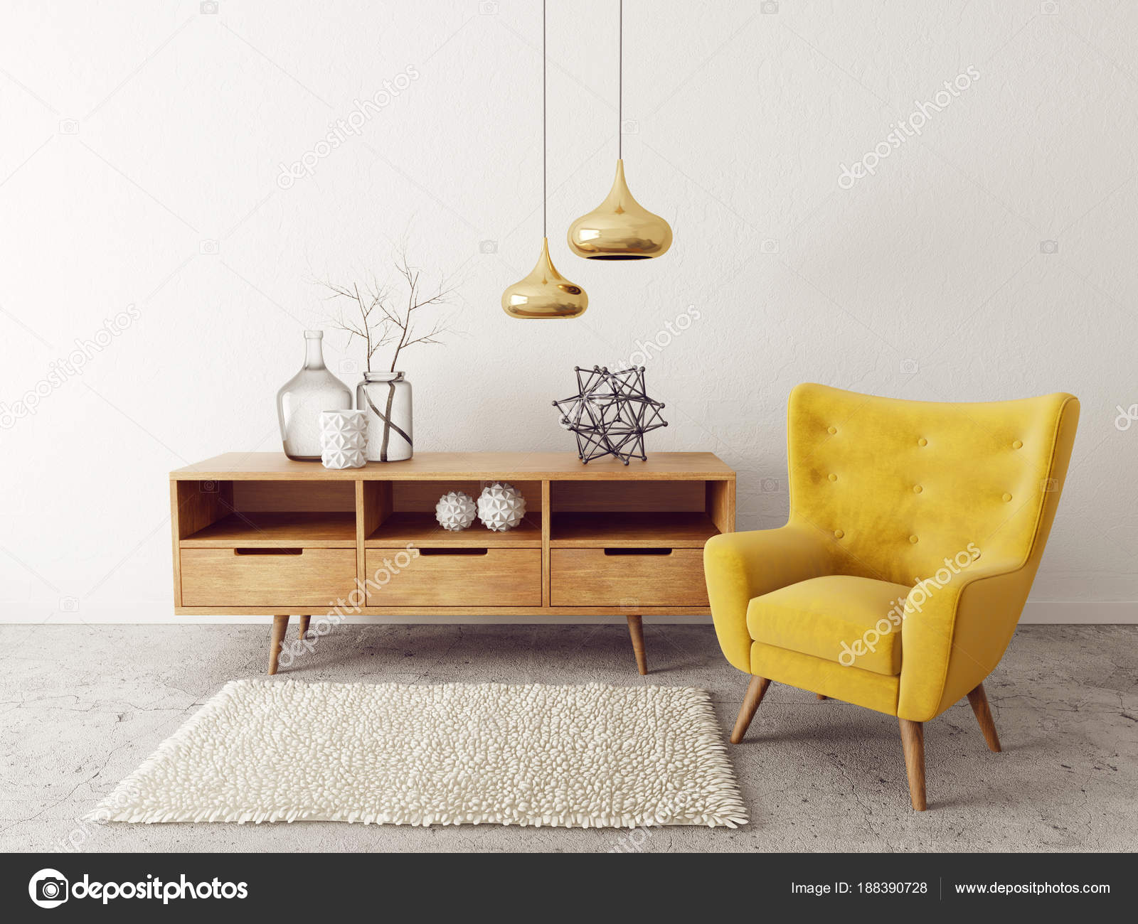 armchair in living room modern living room yellow armchair scandinavian interior 16616