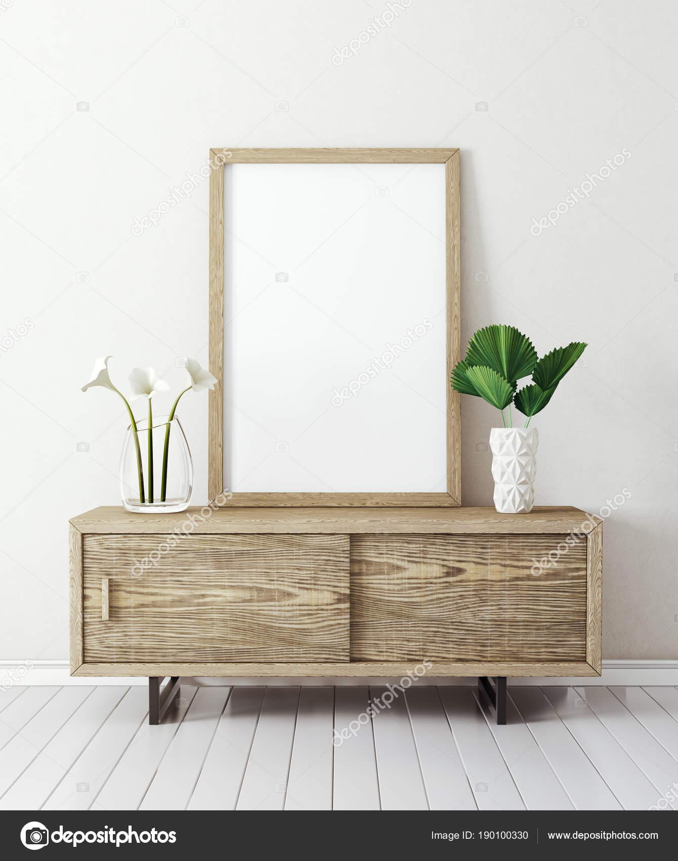 Salon moderne avec tableau ampty cadre meubles design int rieur scandinave photographie - Cadre salon design ...