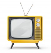 Photo retro tv isolated on a white. 3d illustration