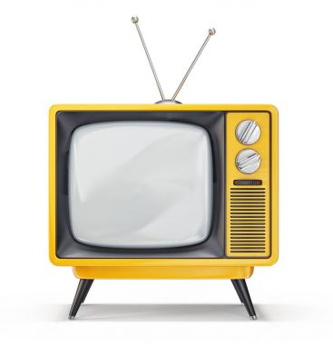 retro tv isolated on a white. 3d illustration