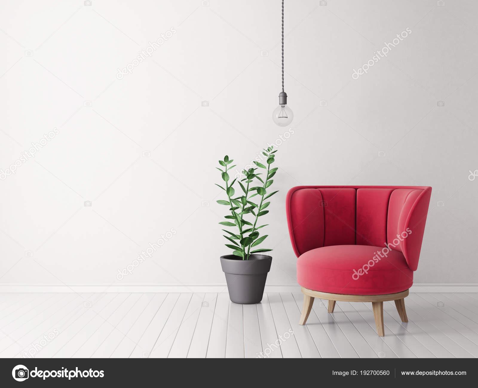 Lampen Scandinavisch Interieur : Moderne woonkamer met rode leunstoel lamp scandinavisch interieur