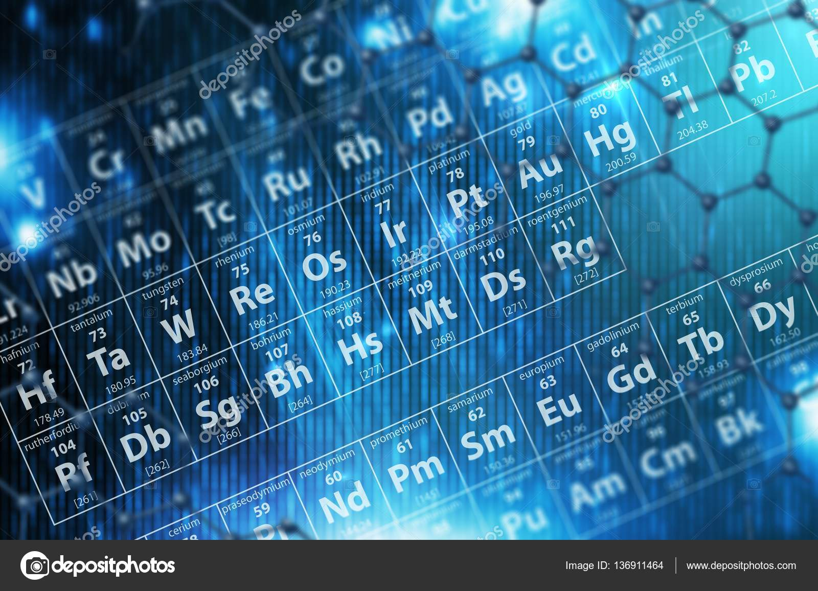 Periodic table blue background stock photo welcomia 136911464 periodic table blue background stock photo urtaz Choice Image