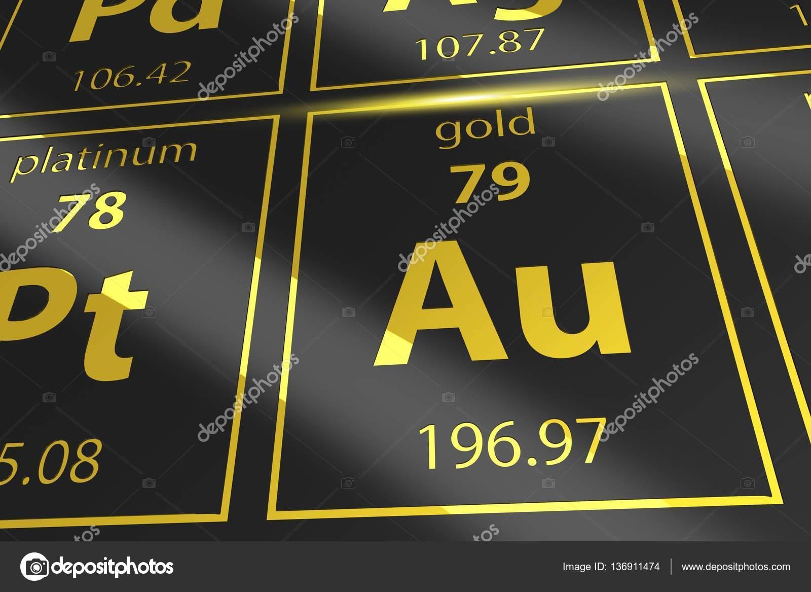 periodic table golden au stock photo welcomia 136911474