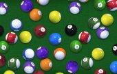 Photo Billiard Game Balls Background