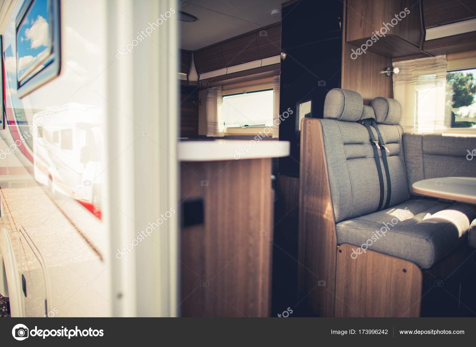 Modern Camper Van Interior — Stockfoto © welcomia #173996242