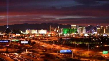 City of Las Vegas Night Time Timelapse. Nevada, United States of America.