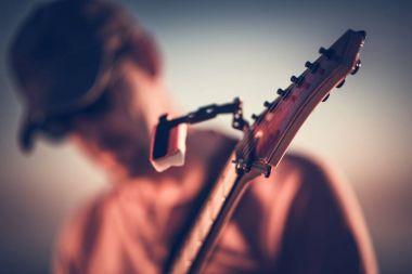 Electric Guitar Playing Closeup
