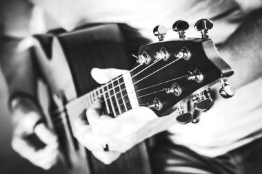 Grayscale Guitar Performance