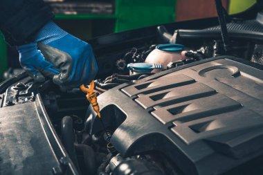 Maintaining Car Oil Check