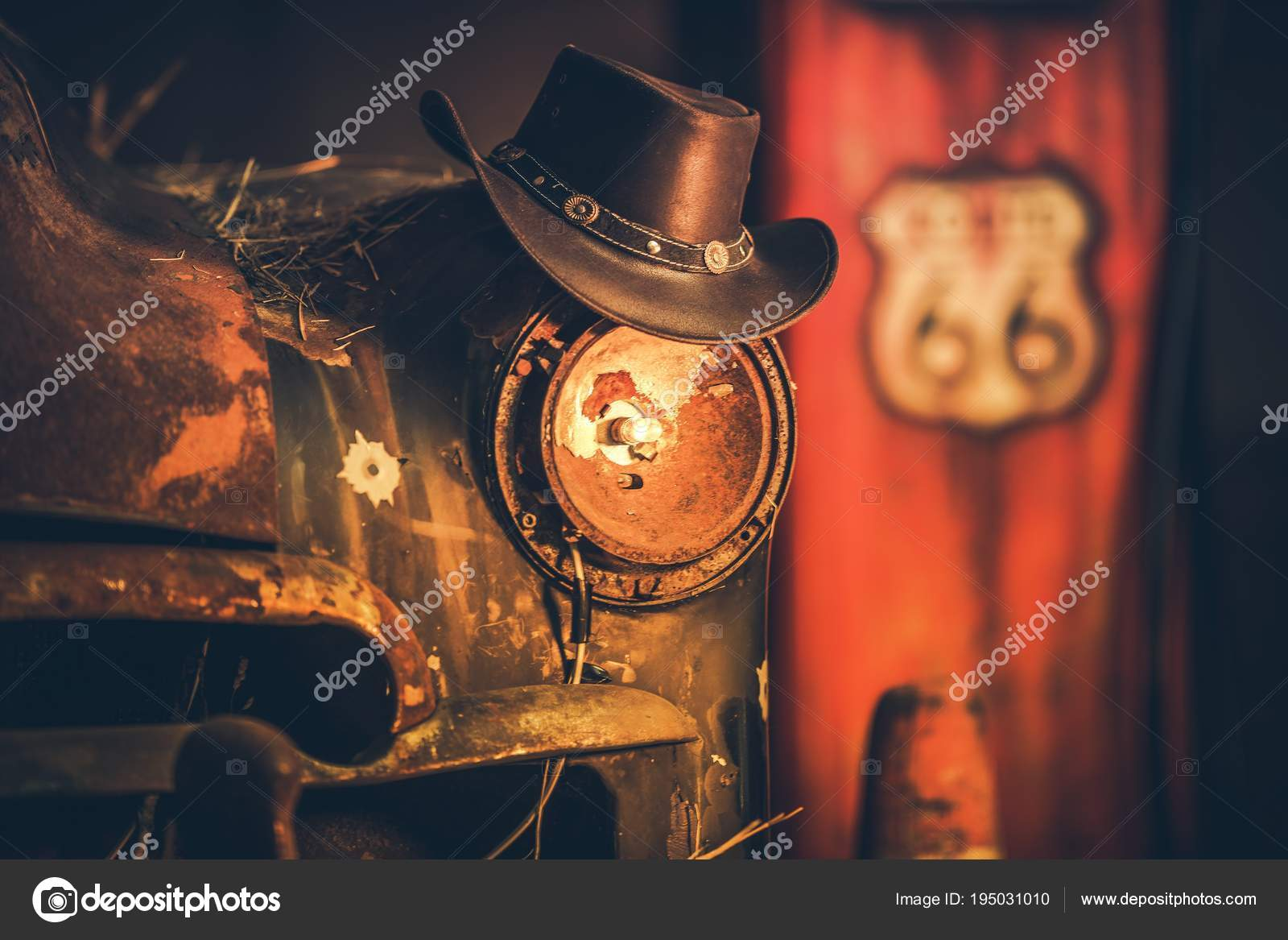 Route 66-Cowboys-Konzept — Stockfoto © welcomia #195031010