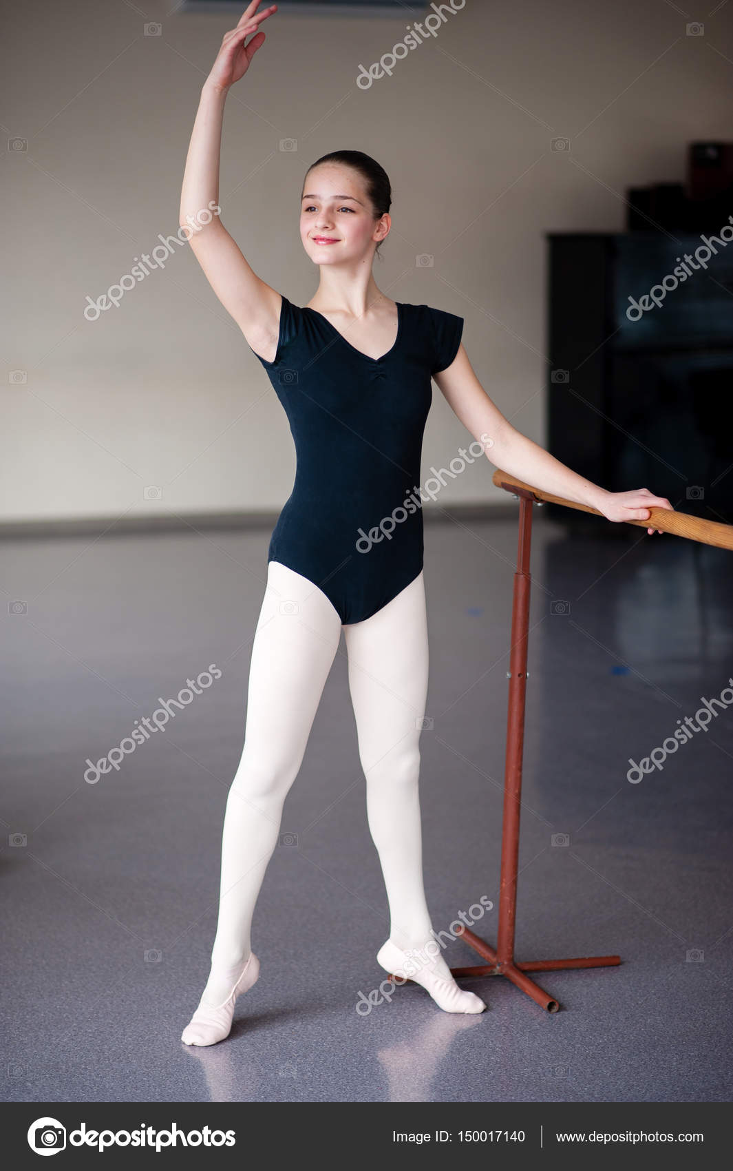 Children are taught ballet positions in choreography