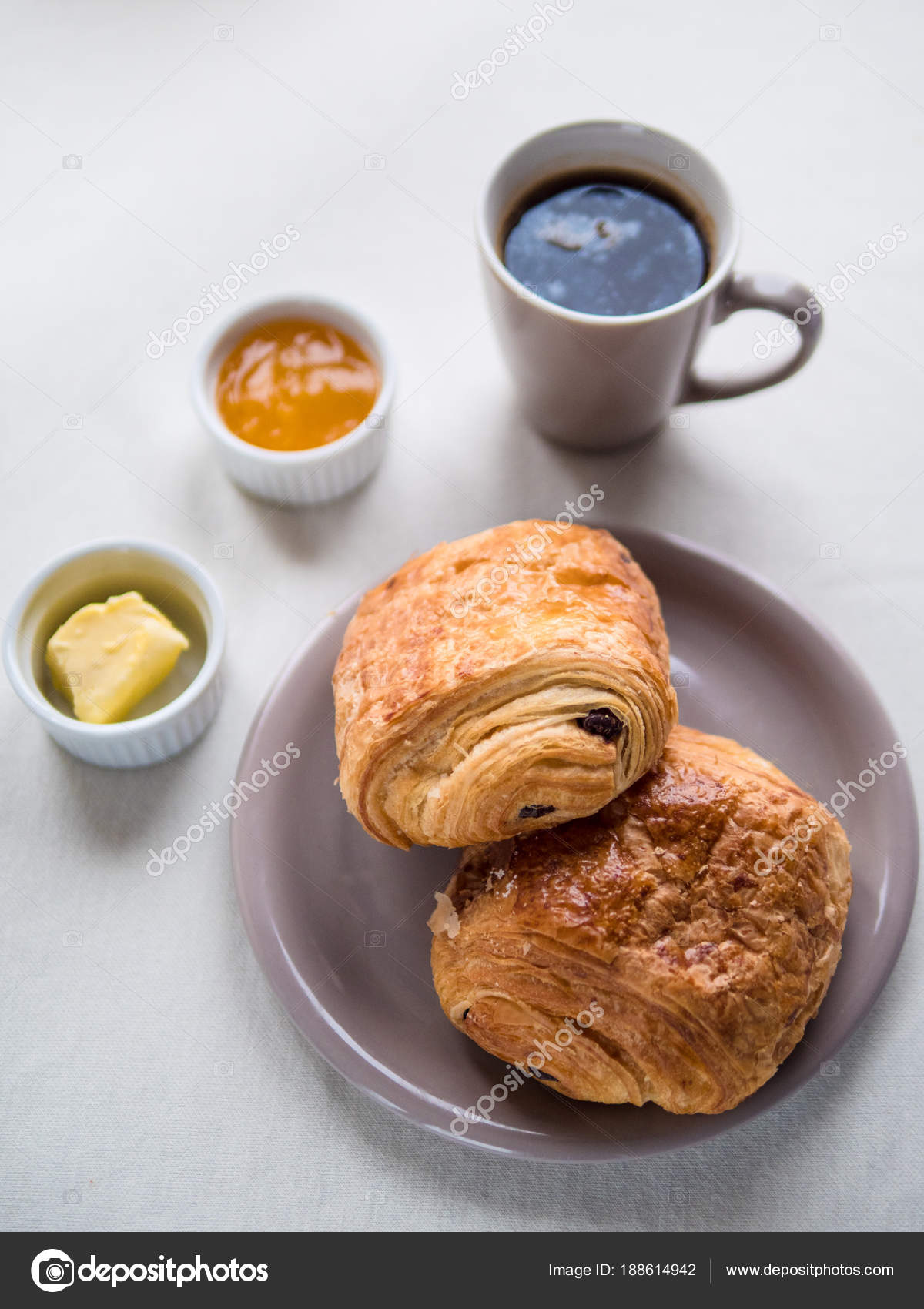 Continental Breakfast With French Chocolate Croissants