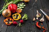 frisches reifes Gemüse