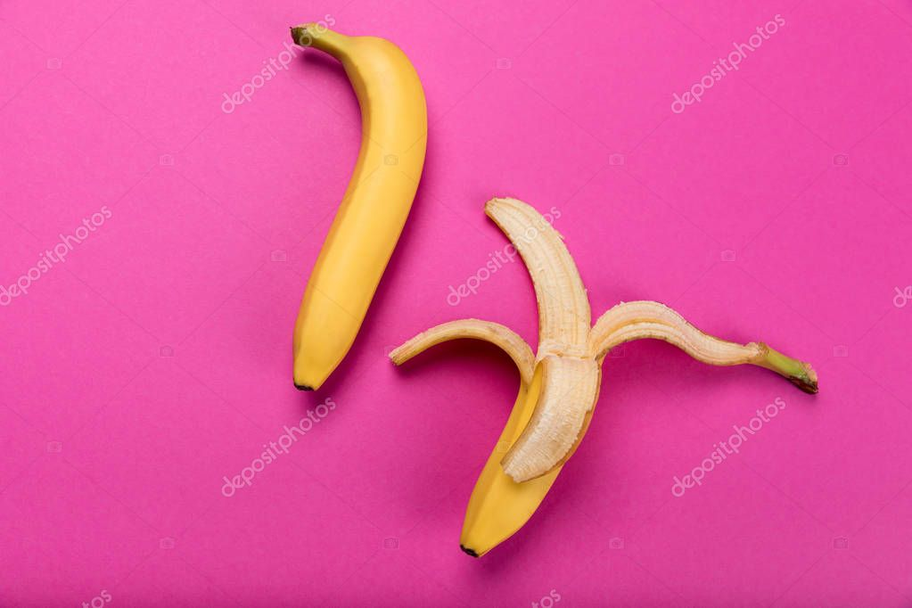 fresh yellow bananas