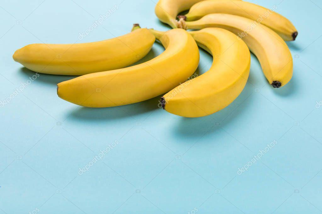 fresh yellow bunch of bananas