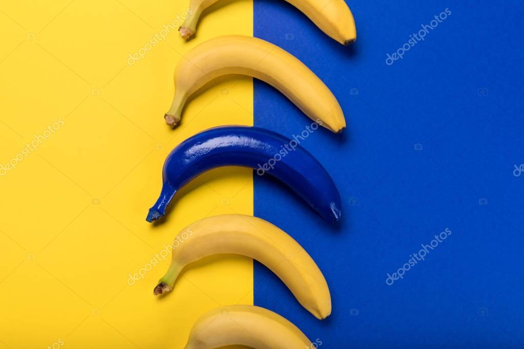 Colorful bananas collection