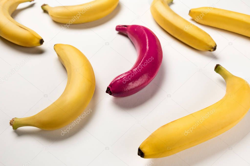 Colorful bananas collection