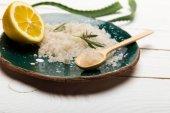 Fotografie Mořská sůl a aloe vera