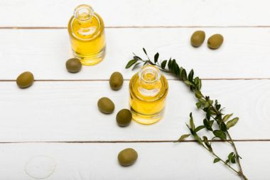 Olives and essential oil