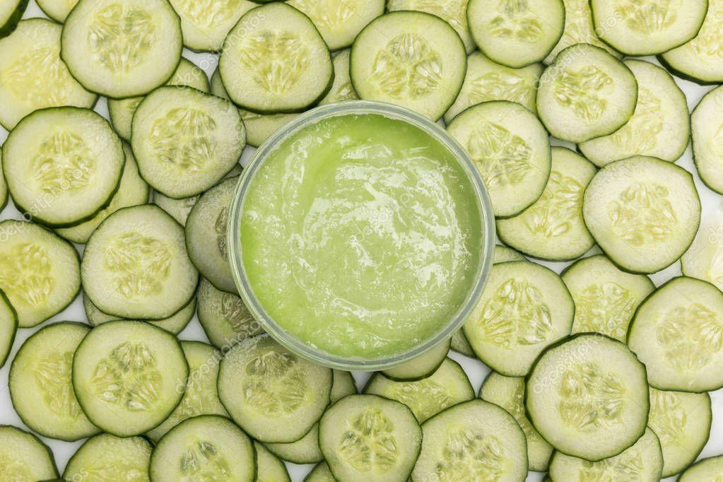 Cucumber face cream