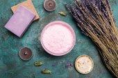 Domácí mýdlo s sušené levandule
