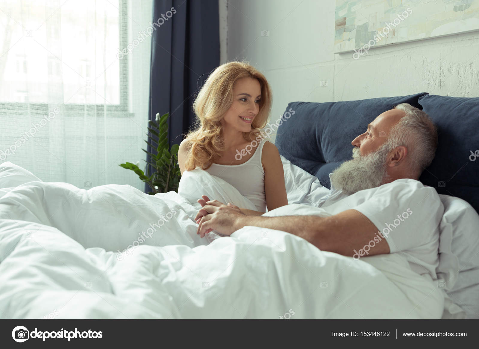 Mature A Letto.Mature Couple In Bed Stock Photo C Sashakhalabuzar 153446122