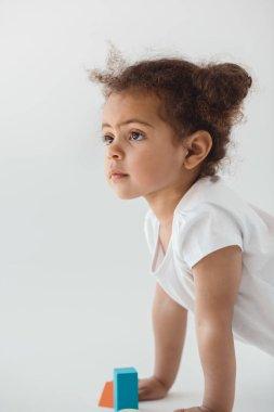 little kid girl crawling