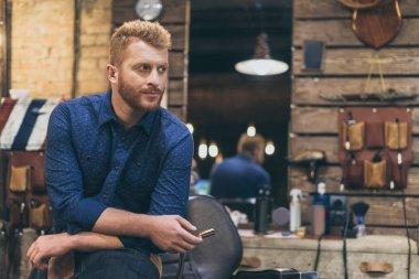 Barber at barber shop