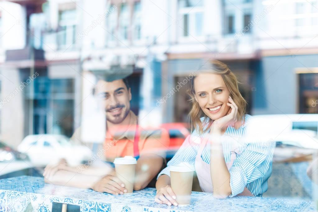 young workers drinking coffee