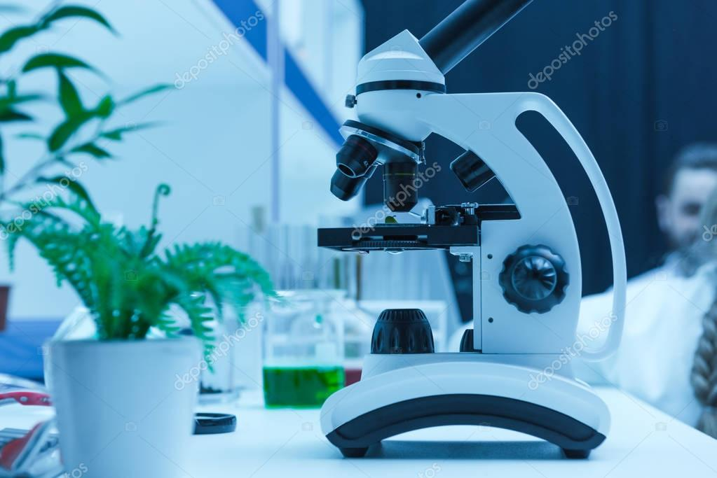 microscope in chemical laboratory